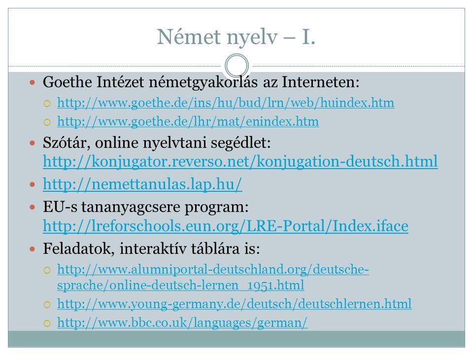 Német nyelv – I.