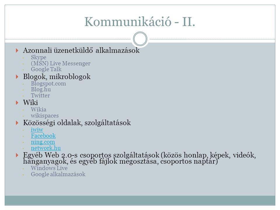 Német nyelv – II.