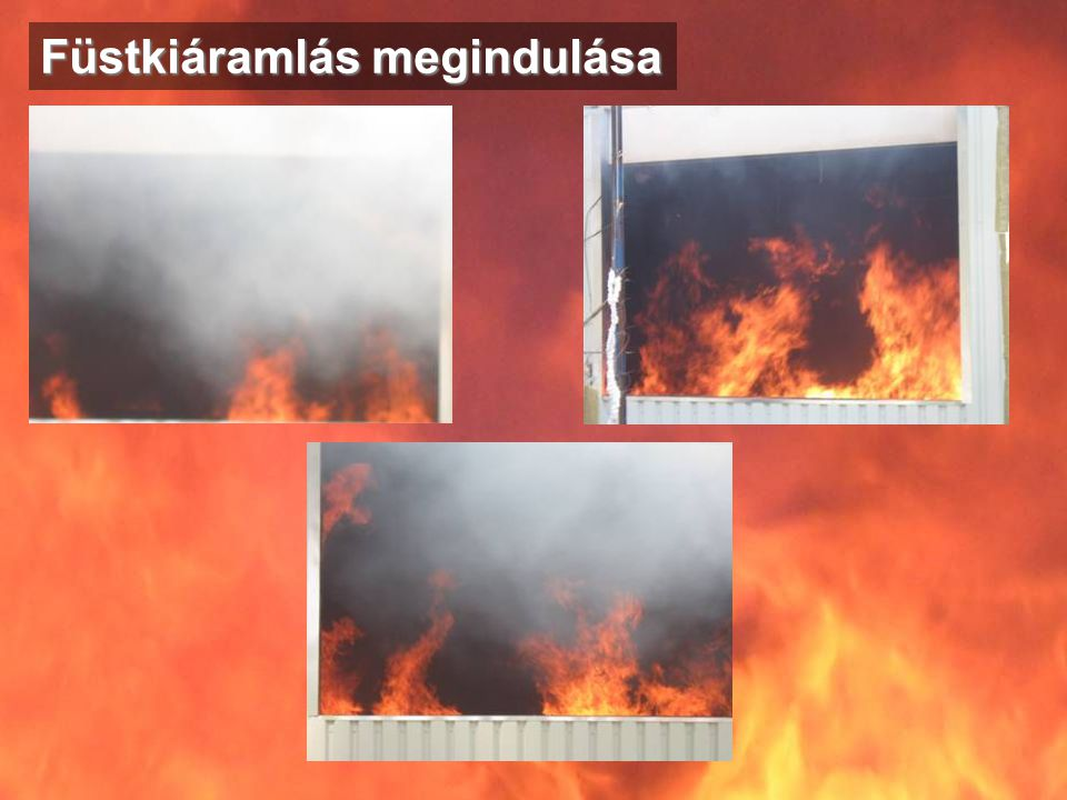 Füstkiáramlás megindulása