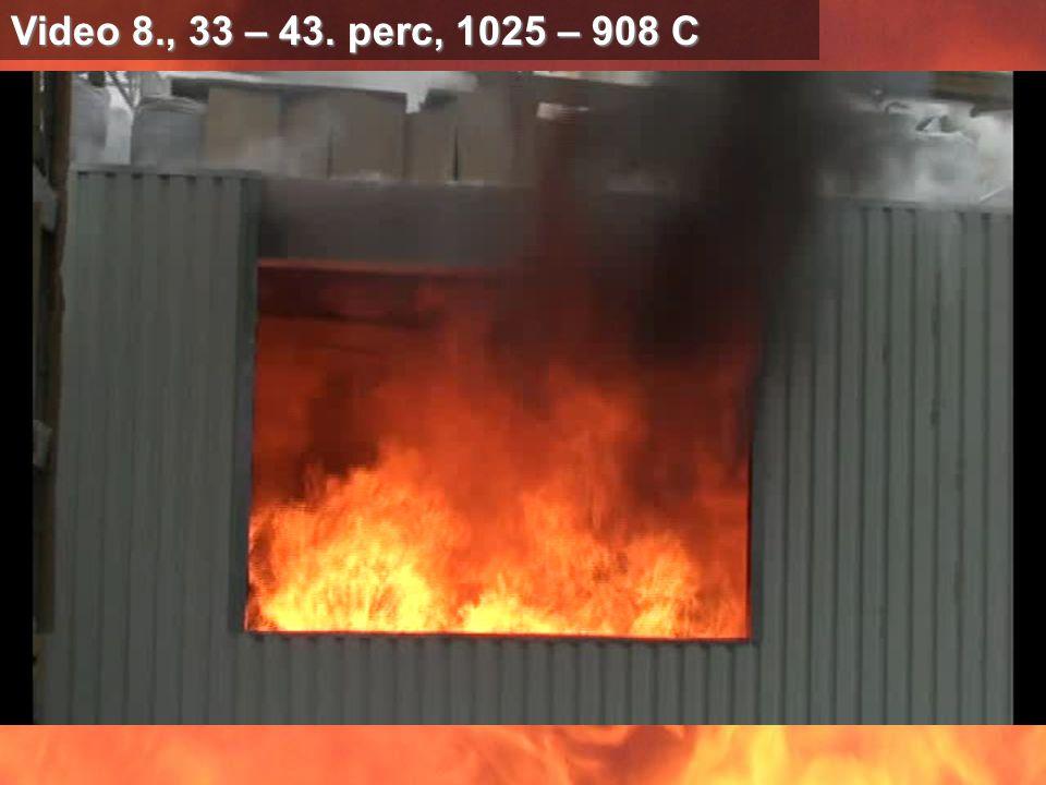 Video 8., 33 – 43. perc, 1025 – 908 C