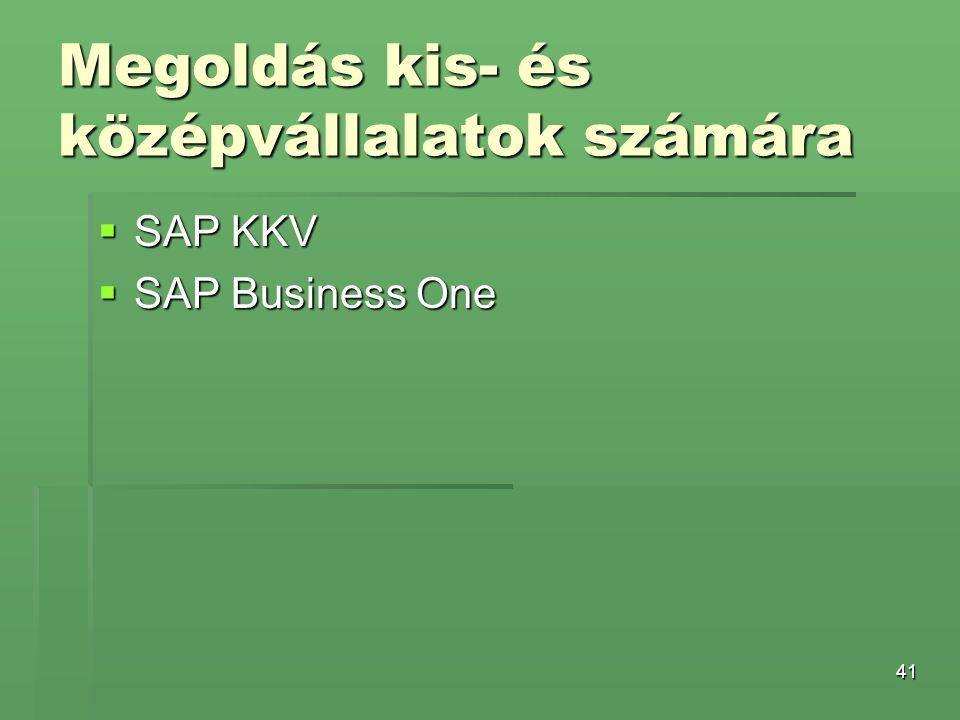 41 Megoldás kis- és középvállalatok számára  SAP KKV  SAP Business One