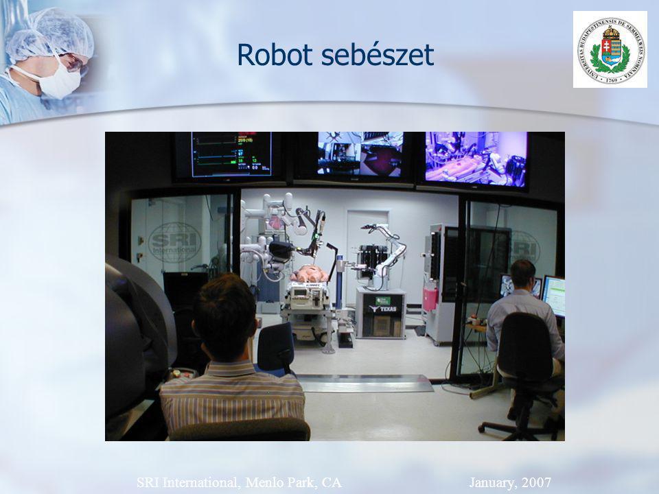 SRI International, Menlo Park, CA January, 2007 Robot sebészet