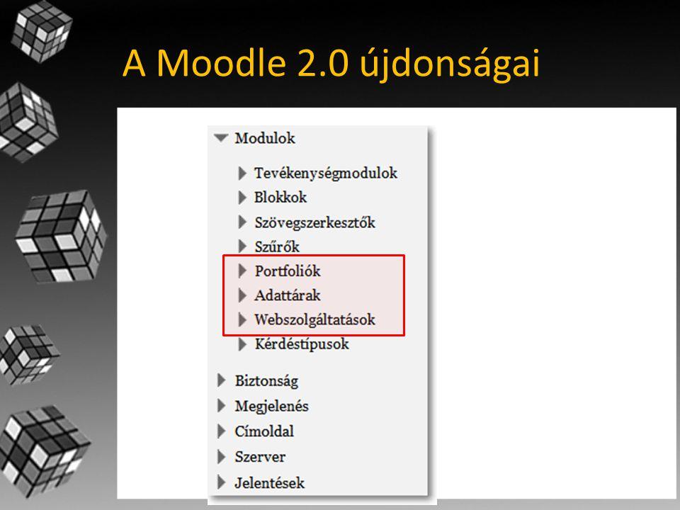 A Moodle 2.0 újdonságai