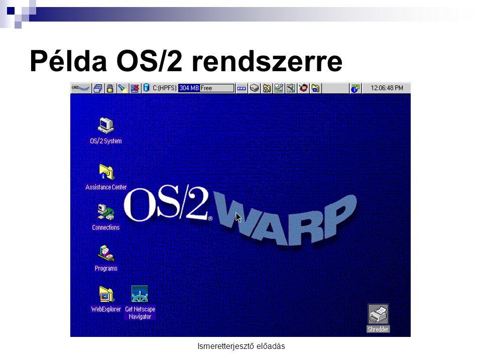 Ismeretterjesztő előadás Példa OS/2 rendszerre