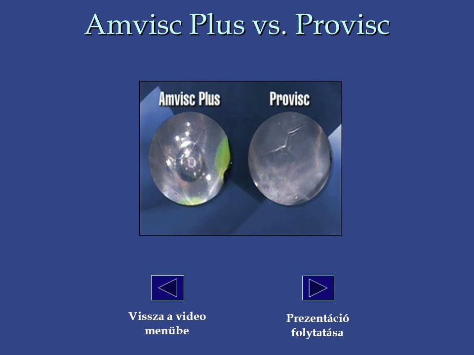 Amvisc Plus vs. Provisc Vissza a video menübe Prezentáció folytatása