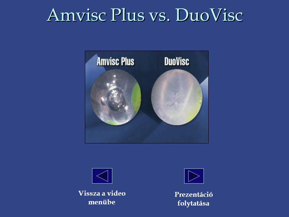 Amvisc Plus vs. DuoVisc Vissza a video menübe Prezentáció folytatása