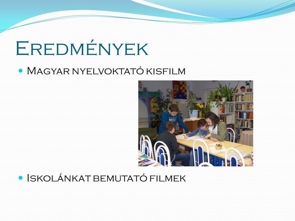 Eredmények  Magyar nyelvoktató kisfilm  Iskolánkat bemutató filmek