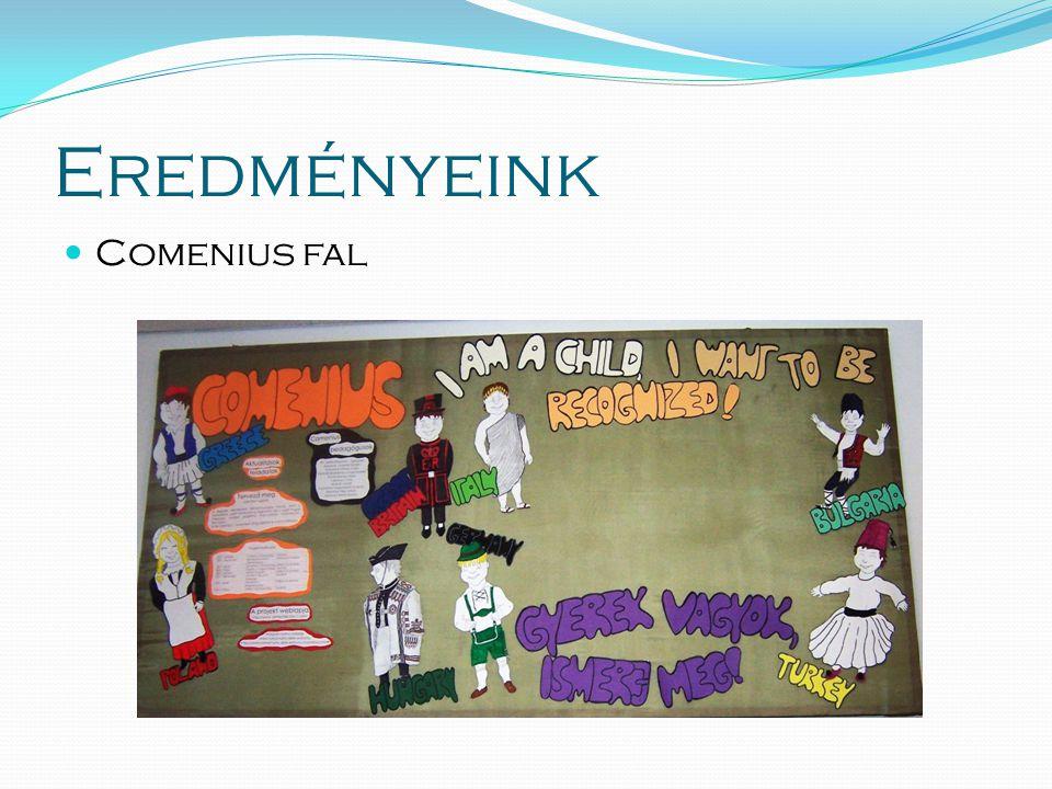 Eredményeink  Comenius fal