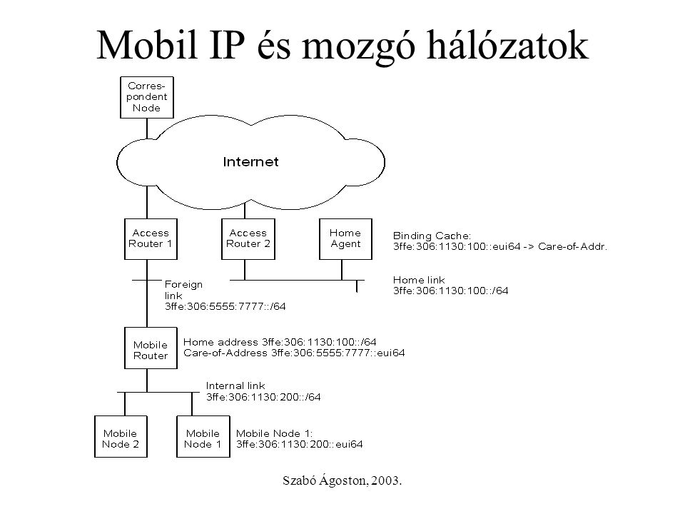 Szabó Ágoston, 2003. Hierarchical Mobile IP