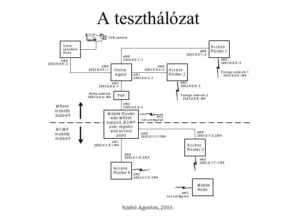 Szabó Ágoston, 2003. A teszthálózat