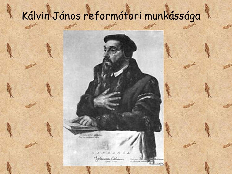 Kálvin János reformátori munkássága