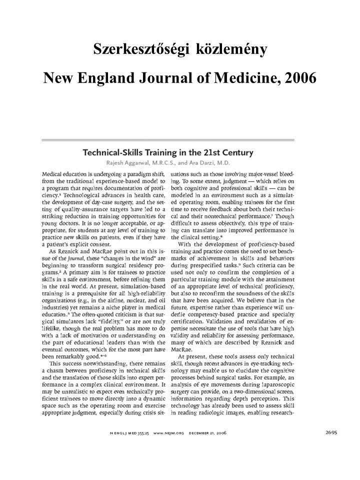 Szerkesztőségi közlemény New England Journal of Medicine, 2006