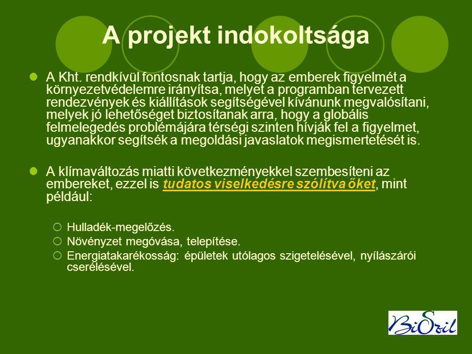 A projekt indokoltsága  A Kht.