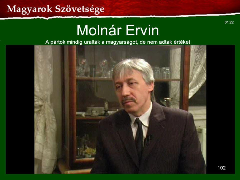 102 Molnár Ervin A pártok mindig uralták a magyarságot, de nem adtak értéket 01:22