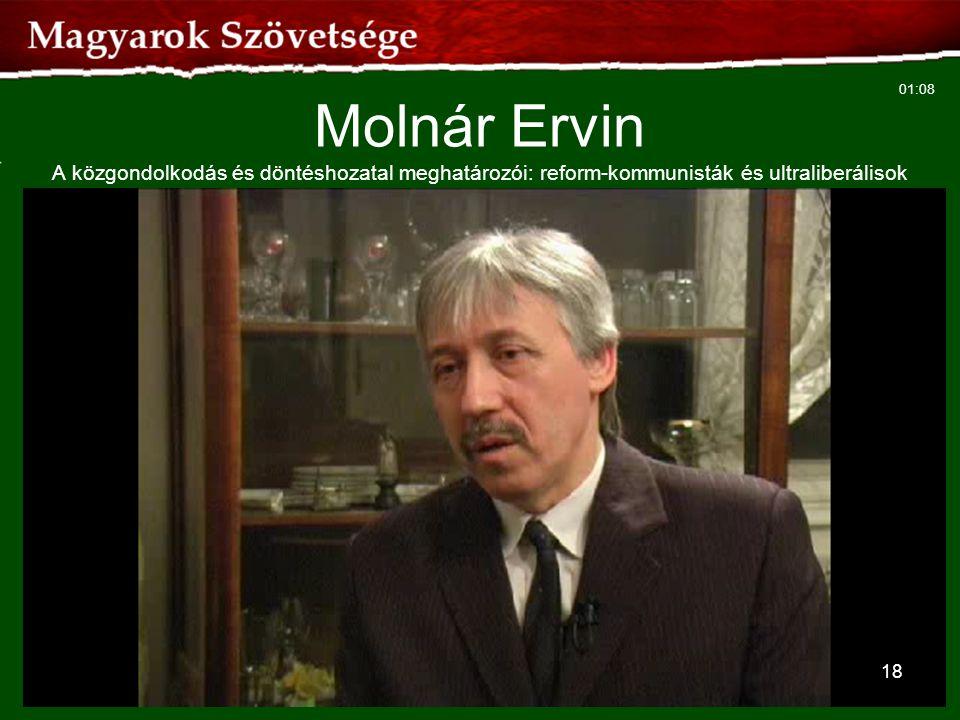 18 Molnár Ervin A közgondolkodás és döntéshozatal meghatározói: reform-kommunisták és ultraliberálisok 01:08