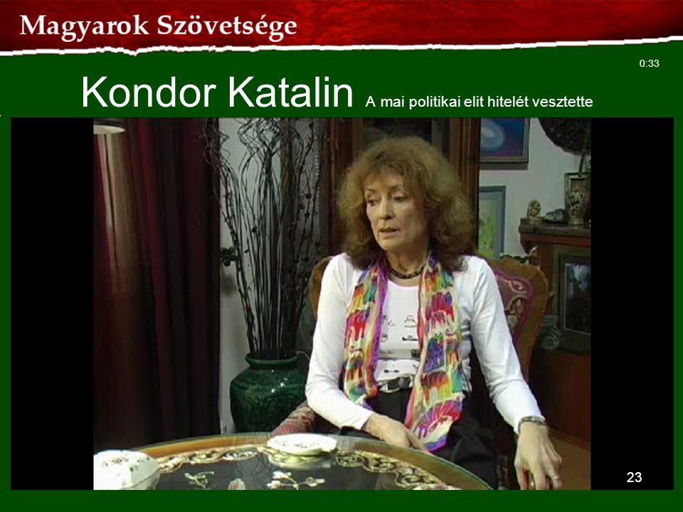 23 Kondor Katalin A mai politikai elit hitelét vesztette 0:33