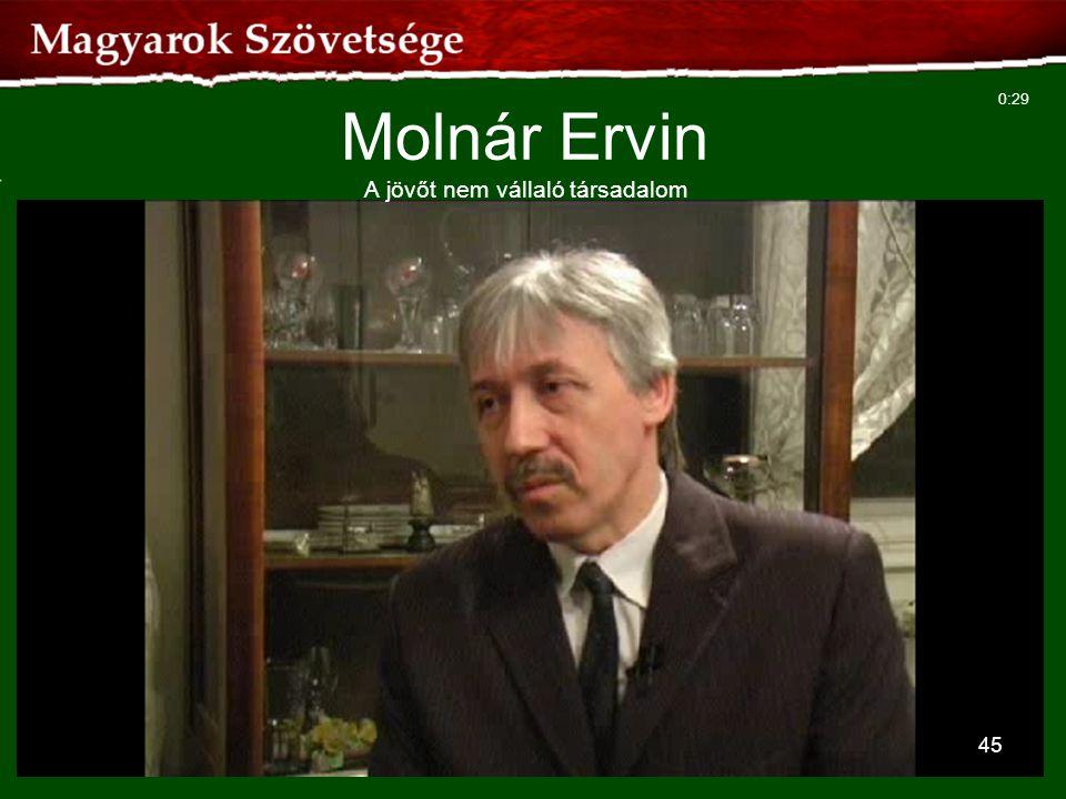 45 Molnár Ervin A jövőt nem vállaló társadalom 0:29