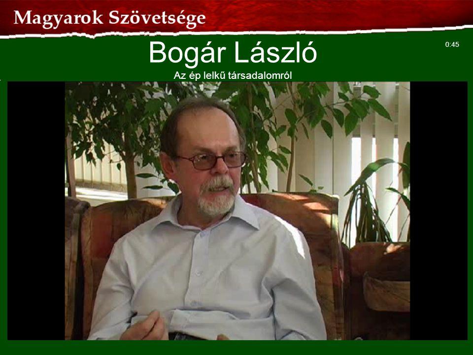 50 Bogár László Az ép lelkű társadalomról 0:45