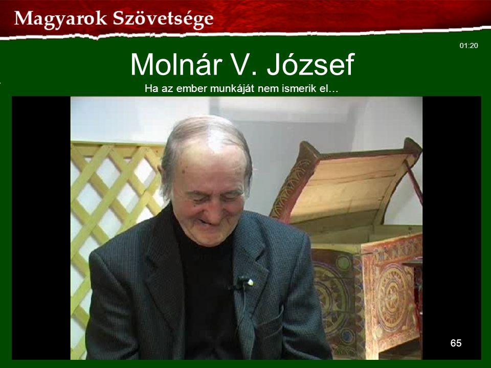 65 Molnár V. József Ha az ember munkáját nem ismerik el… 01:20