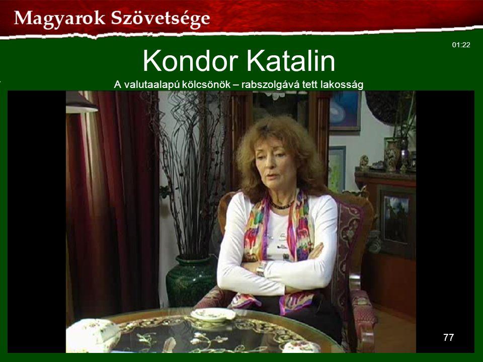 77 Kondor Katalin A valutaalapú kölcsönök – rabszolgává tett lakosság 01:22
