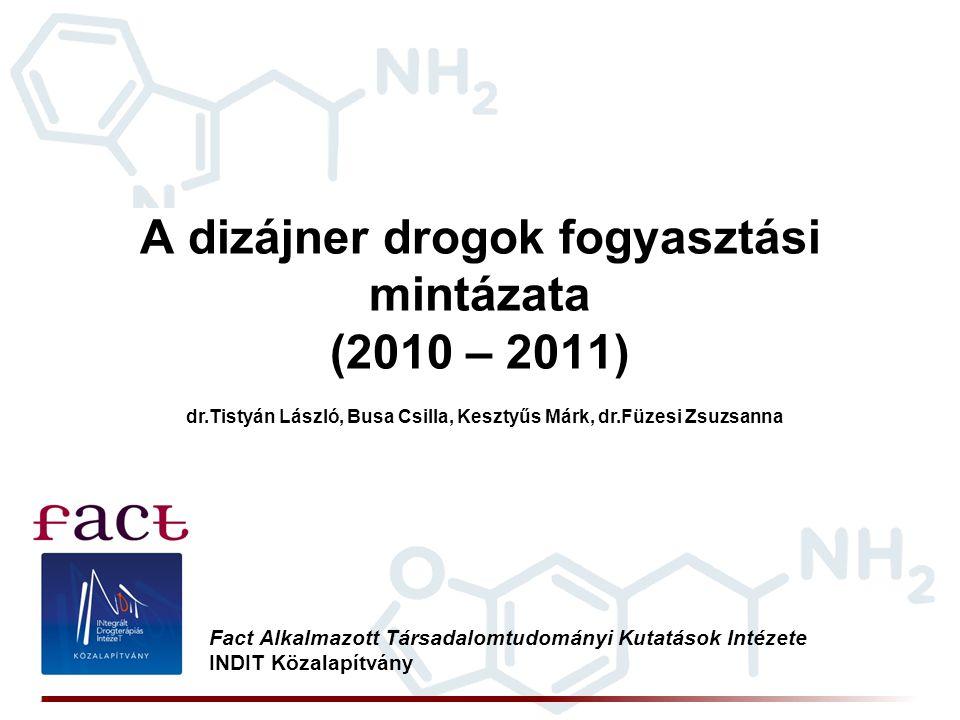 A dizájner drogok fogyasztási mintázata (2010 – 2011) Fact Alkalmazott Társadalomtudományi Kutatások Intézete INDIT Közalapítvány dr.Tistyán László, B
