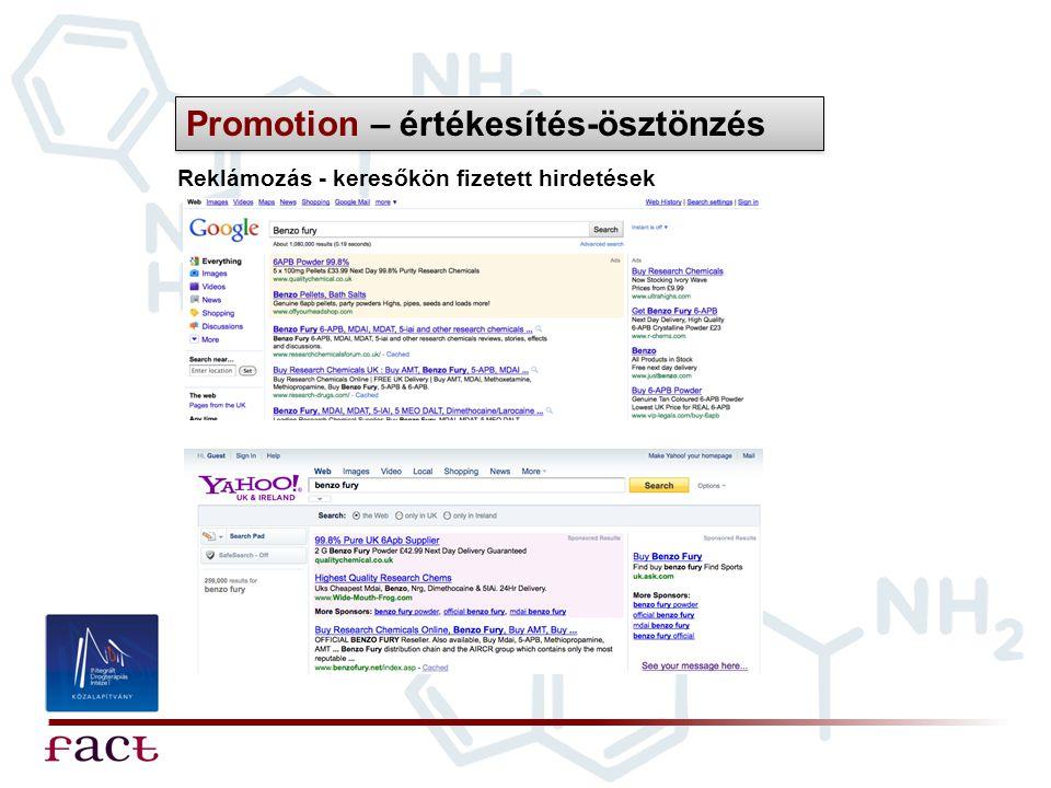 Reklámozás - keresőkön fizetett hirdetések Promotion – értékesítés-ösztönzés