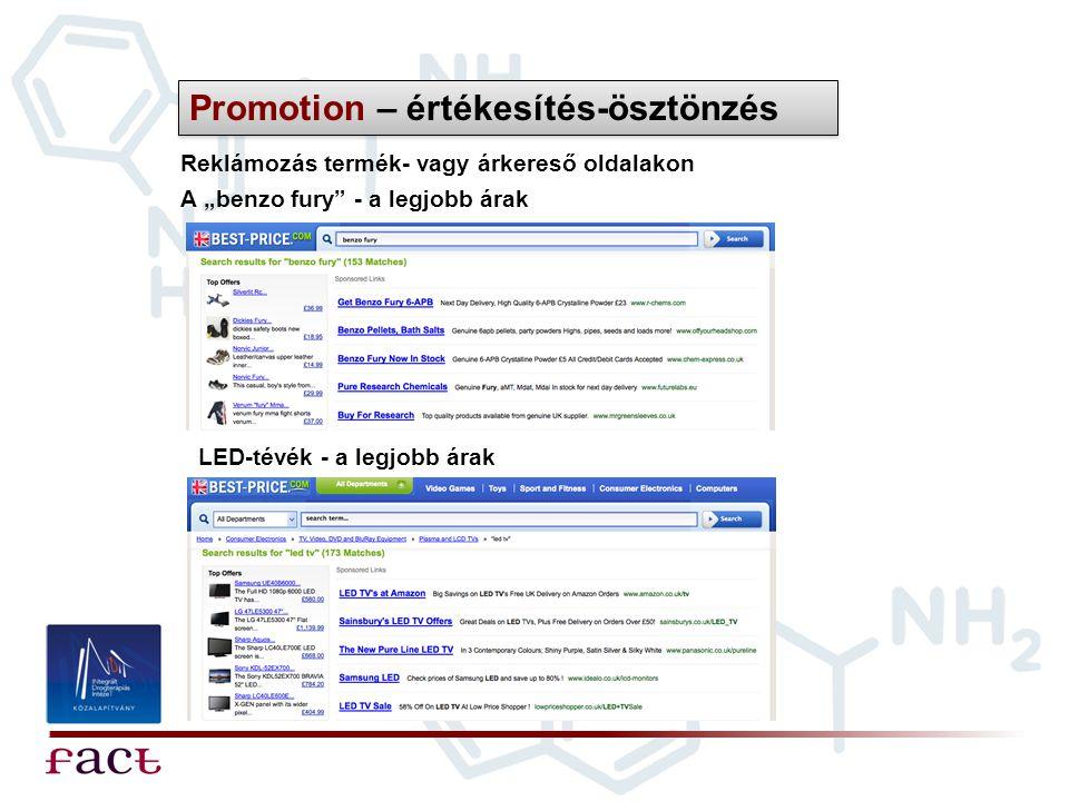 """Reklámozás termék- vagy árkereső oldalakon Promotion – értékesítés-ösztönzés A """"benzo fury"""" - a legjobb árak LED-tévék - a legjobb árak"""
