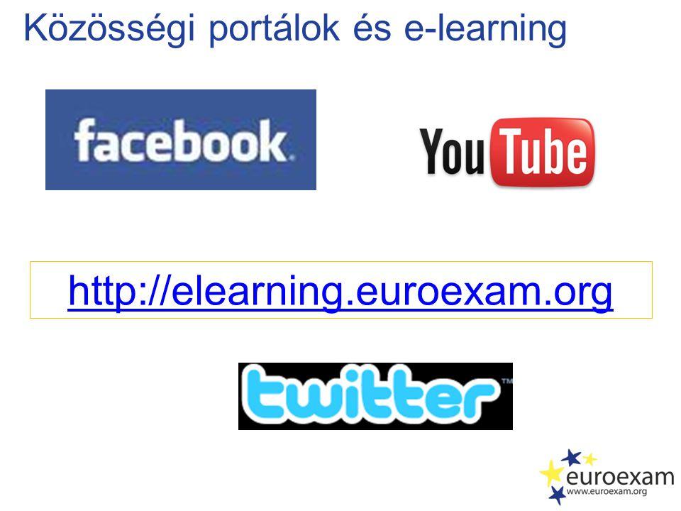 Közösségi portálok és e-learning http://elearning.euroexam.org