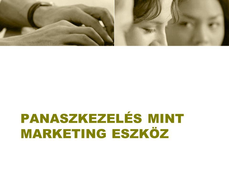 PANASZKEZELÉS MINT MARKETING ESZKÖZ