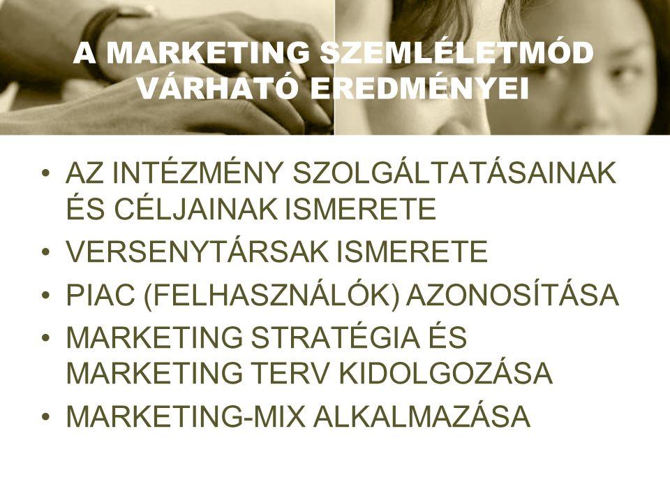 F ELADAT Új szolgáltatások tervezése és új piaci szegmensek keresése az élménygazdaság elméletére építve