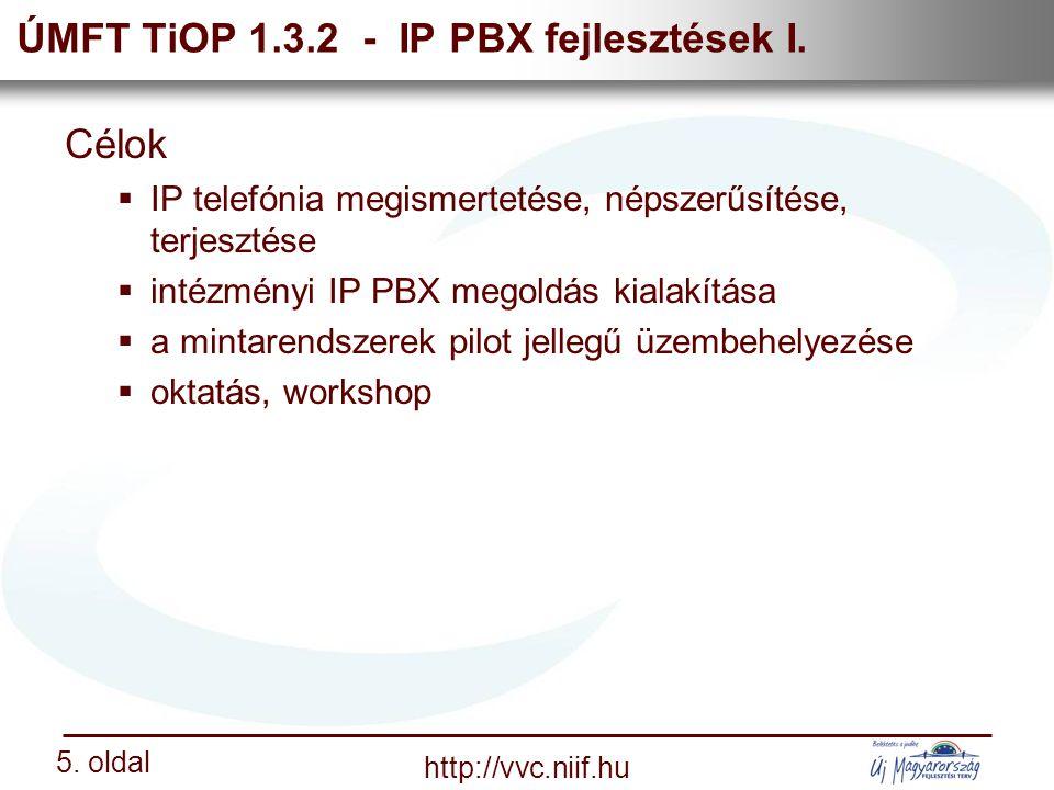 Nemzeti Információs Infrastruktúra Fejlesztési Intézet http://vvc.niif.hu 5.
