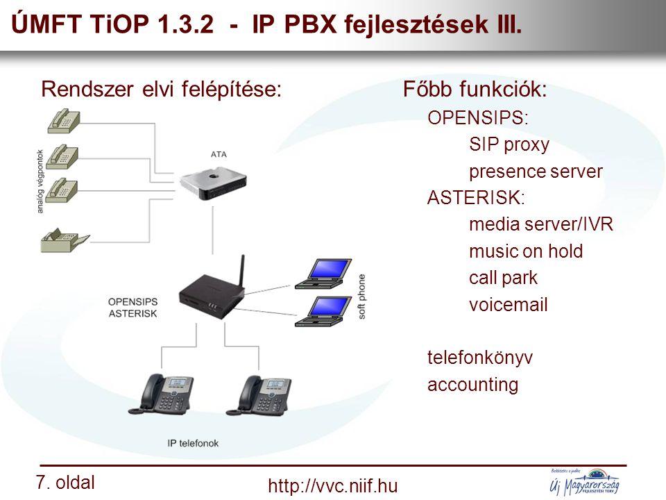 Nemzeti Információs Infrastruktúra Fejlesztési Intézet http://vvc.niif.hu 7.