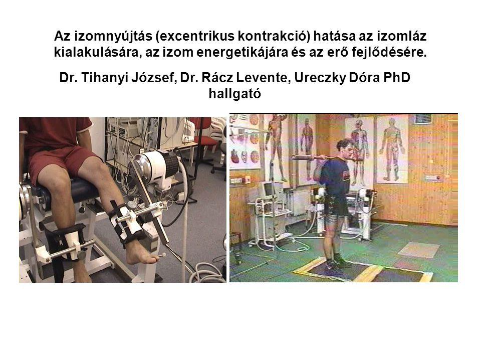 A statikus és dinamikus (robbanékony) izomerő mérése Dr. Tihanyi József, Dr. Rácz Levente, Dr. Trzazkoma Lukas