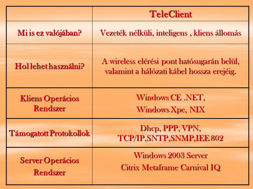 TeleClient Mi is ez valójában. Vezeték nélküli, inteligens, kliens állomás Hol lehet használni.