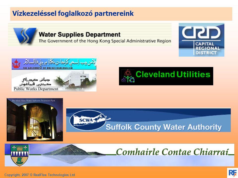 Copyright, 2007 © RealFlex Technologies Ltd. Vízkezeléssel foglalkozó partnereink