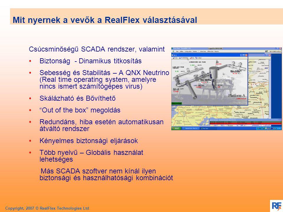 Copyright, 2007 © RealFlex Technologies Ltd. FlexOPC – Adatmegosztás más alkalmazásokkal