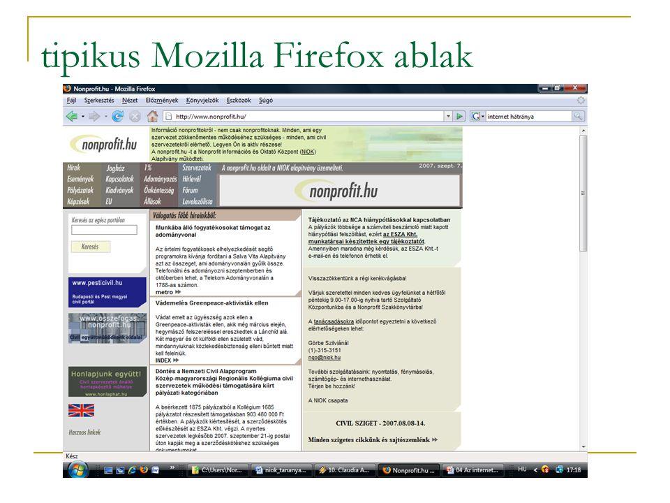 tipikus Mozilla Firefox ablak