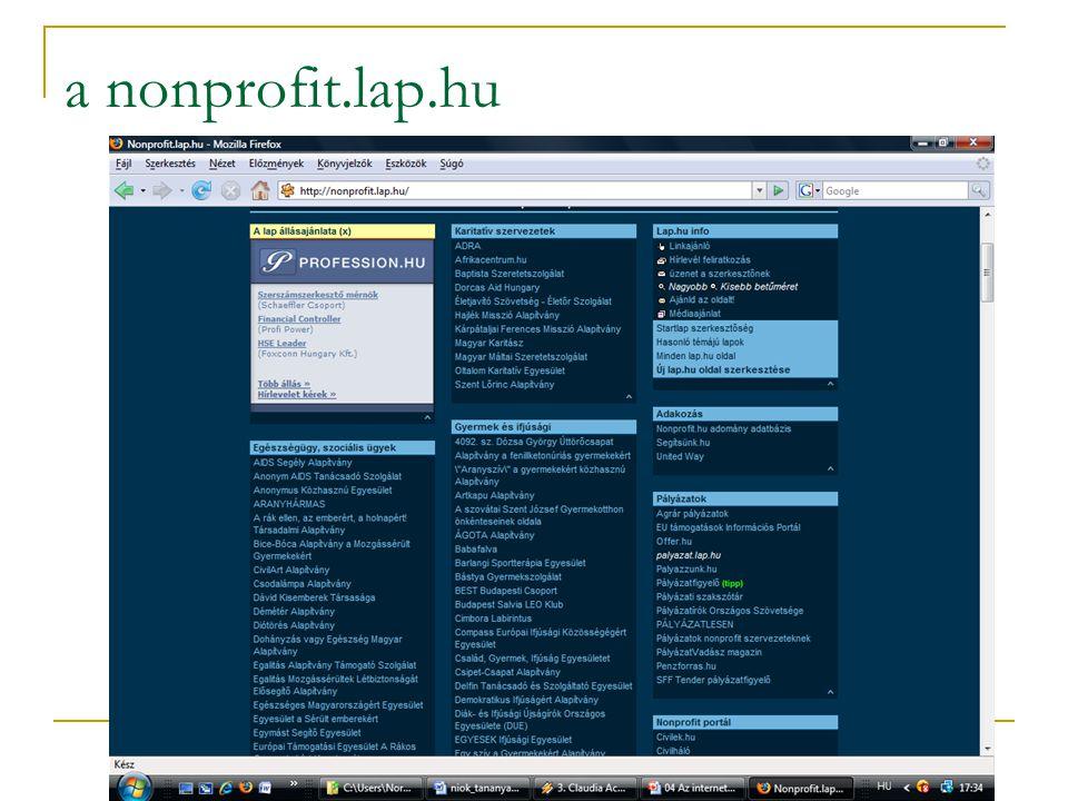 a nonprofit.lap.hu