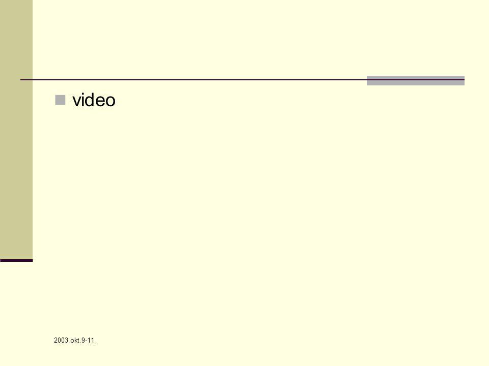 2003.okt.9-11.  video