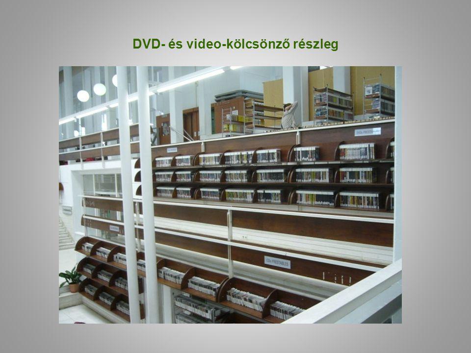 DVD- és video-kölcsönző részleg