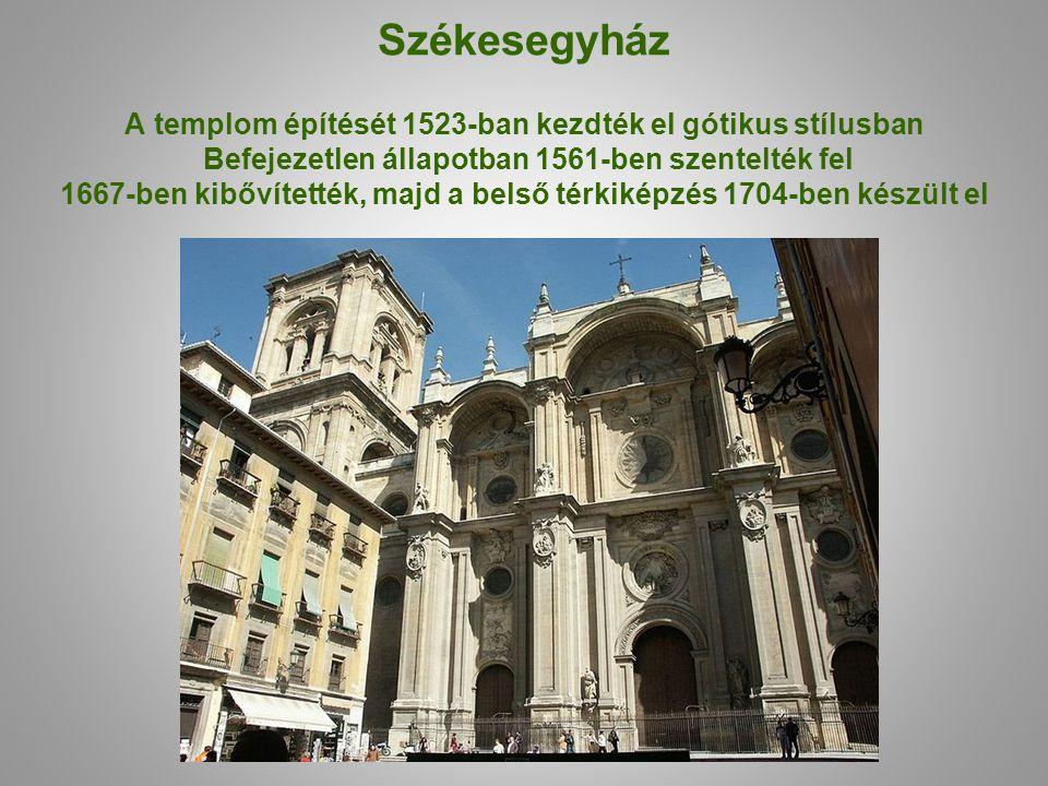 Székesegyház A templom építését 1523-ban kezdték el gótikus stílusban Befejezetlen állapotban 1561-ben szentelték fel 1667-ben kibővítették, majd a be