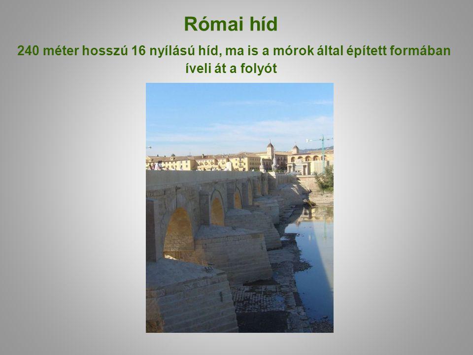 Római híd 240 méter hosszú 16 nyílású híd, ma is a mórok által épített formában íveli át a folyót