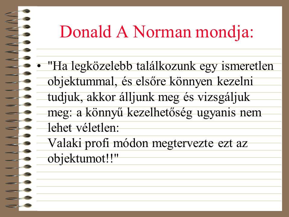Donald A Norman mondja: •