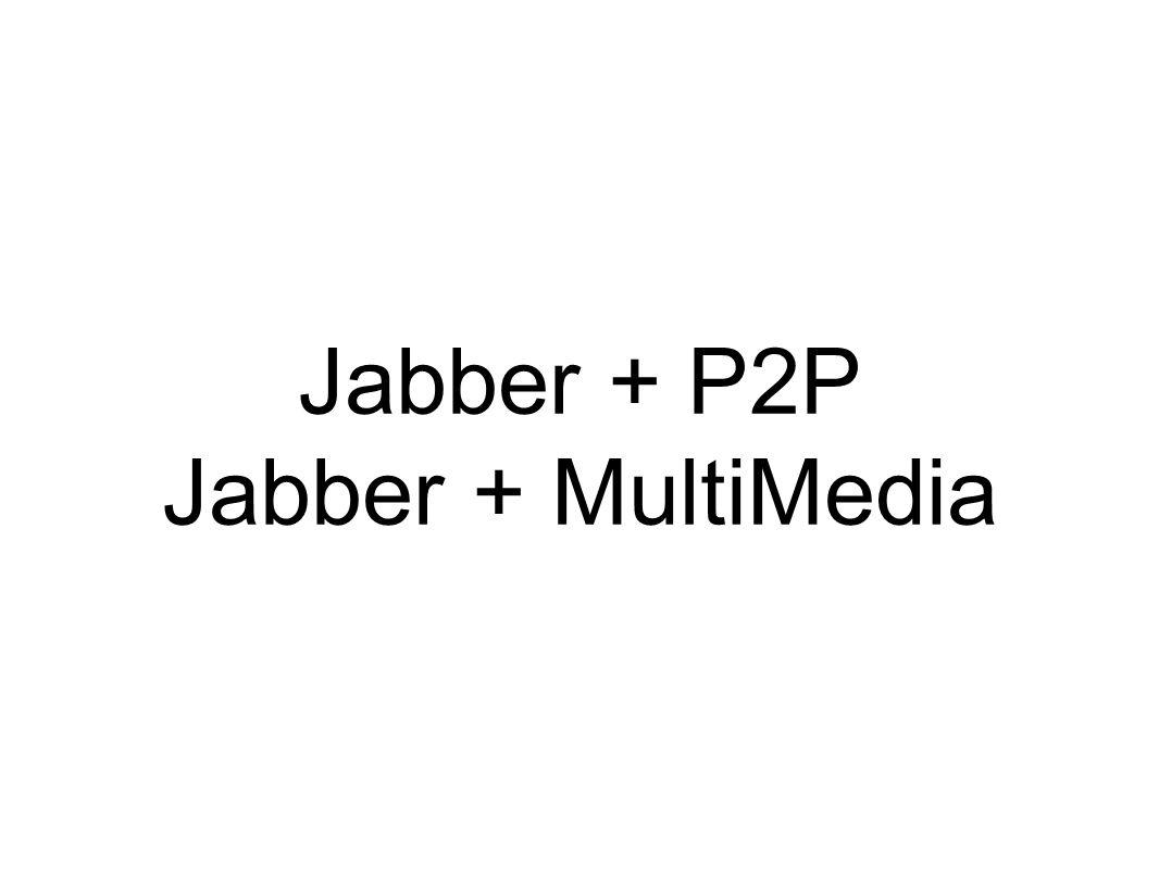 Jabber + P2P Jabber + MultiMedia