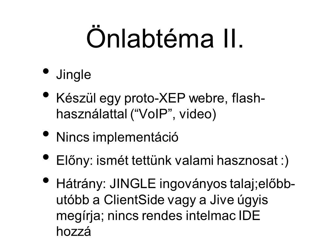 Önlabtéma II.