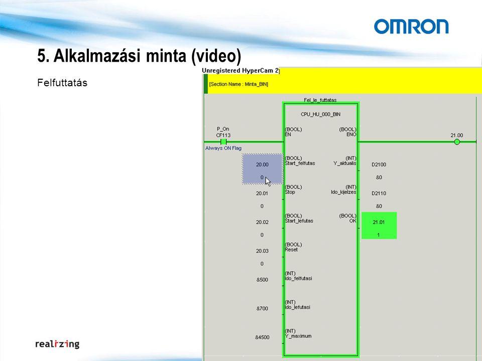 5. Alkalmazási minta (video) Felfuttatás