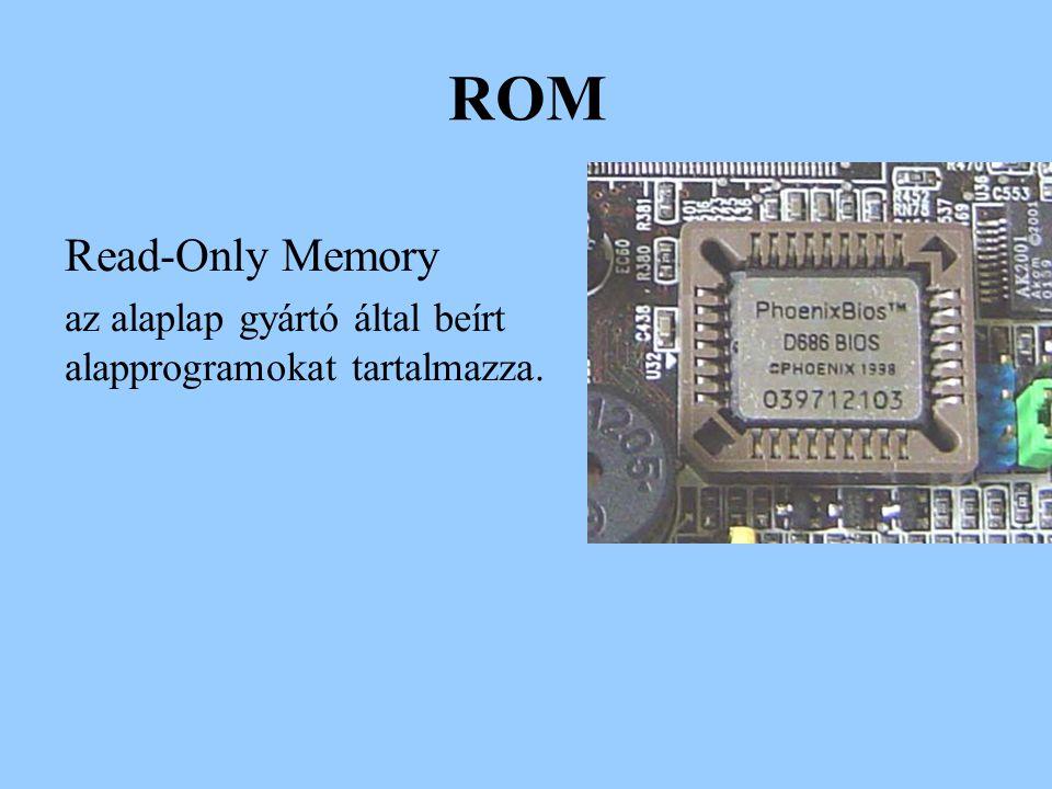 Háttértárolók Az adataink tárolására szolgáló eszközök Merevlemez HDD – Hard Disk Drive -Mágneses – az adatot töltések formájában tárolja Jellemzők: -Kapacitás – pl.