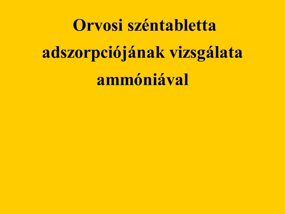 Orvosi széntabletta adszorpciójának vizsgálata ammóniával