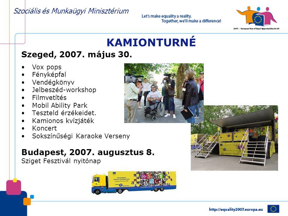 Szociális és Munkaügyi Minisztérium KAMIONTURNÉ Szeged, 2007.