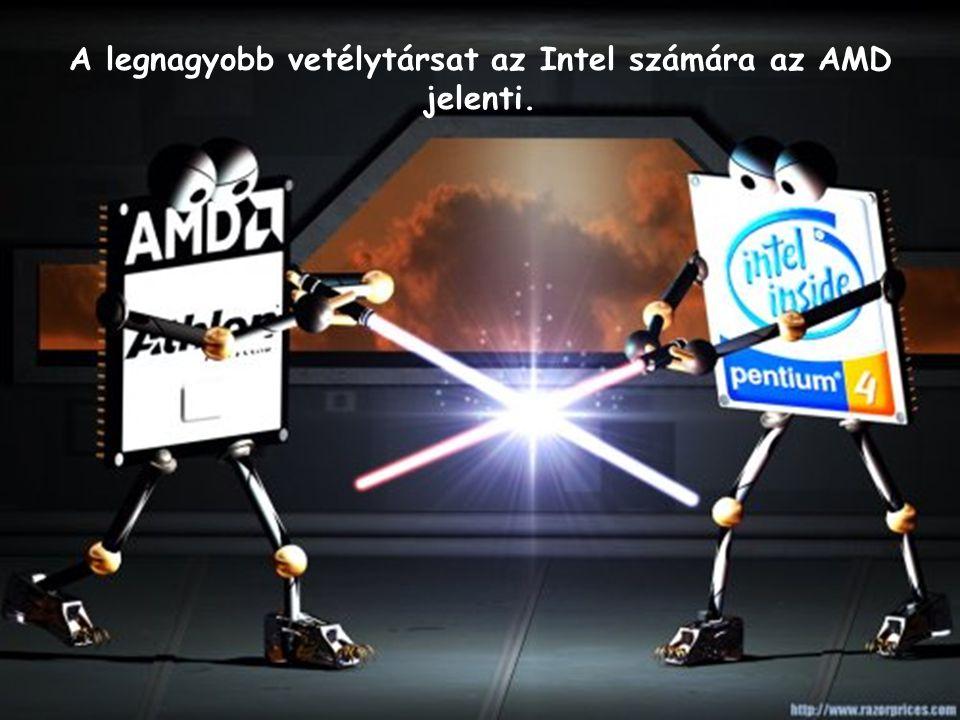 A legnagyobb vetélytársat az Intel számára az AMD jelenti.